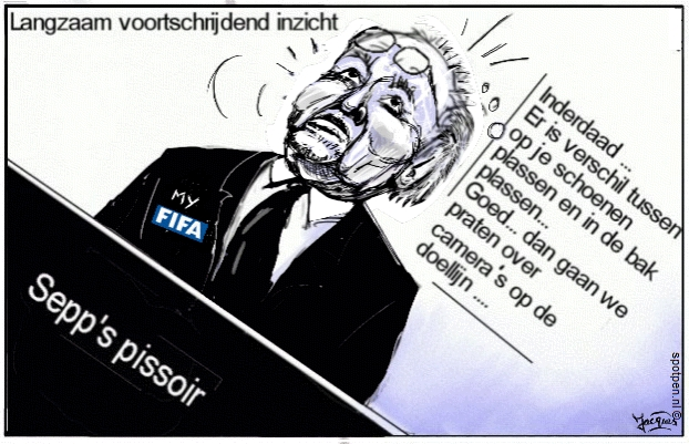 Cartoon Sepp Blatter