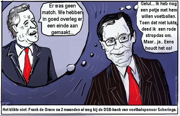 cartoon DSB bank Scheringa