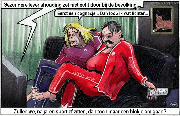 cartoon bewegen sport  eten