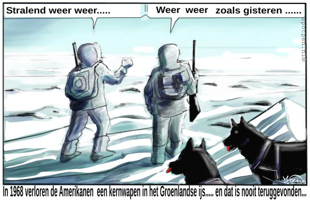 Atoomstraling cartoon fall-out  kernbom  kernwapen