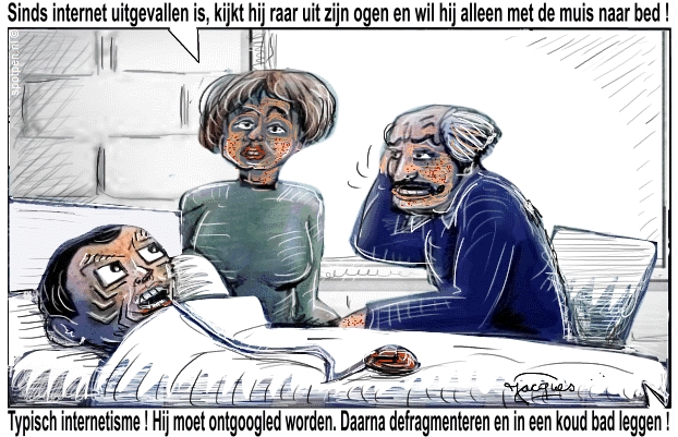 cartoon verslaving verslavingsverschijnselen