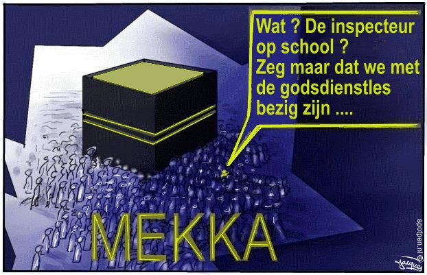 Mekka cartoon godsdienst hadj moslims islam