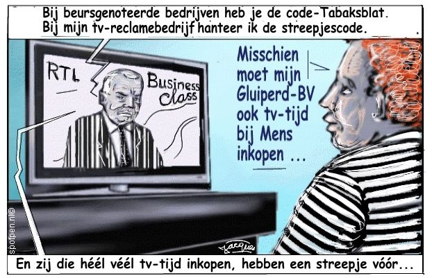 harry mens cartoon makelaar televisie