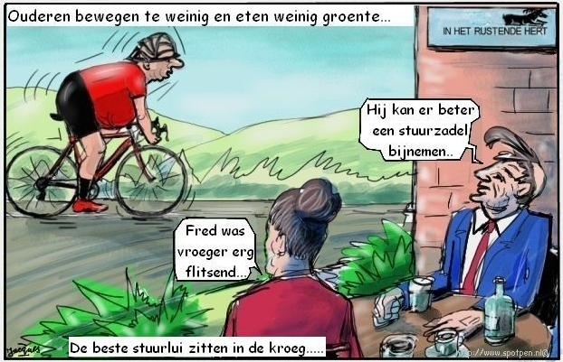 Wielrenner cartoon beweging