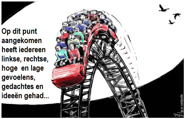 cartoon  achtbaan roller coaster