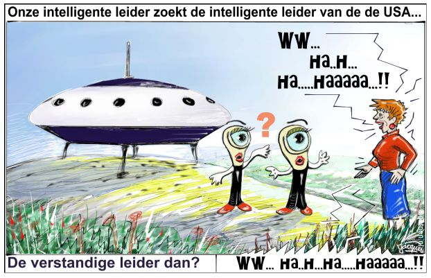Aliens buitenaards leven ufo's cartoon