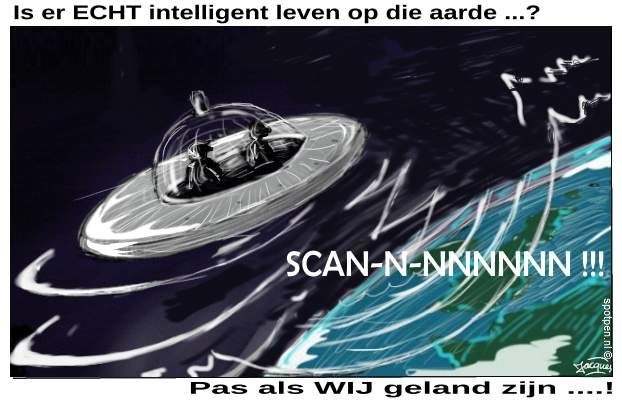 Aliens  buitenaards leven  UFO cartoon