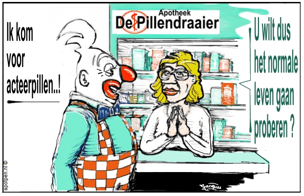clown cartoon apotheek