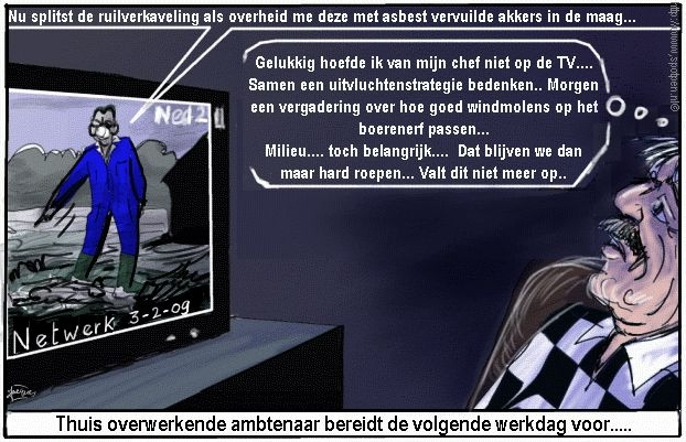 asbest cartoon ruilverkaveling landinrichting buitengebied