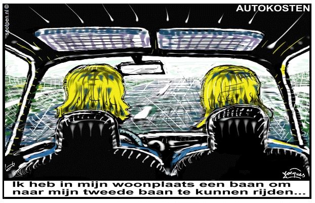 Auto kosten  cartoon