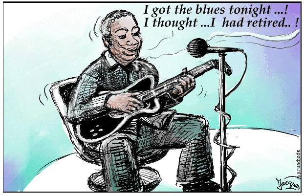 B.B. King cartoon