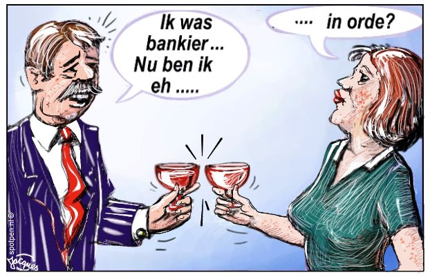 cartoon Banken bankiers