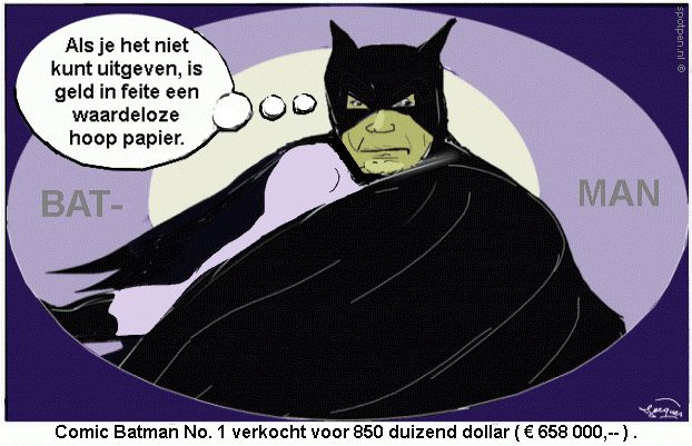 Cartoon  Batman comic strip