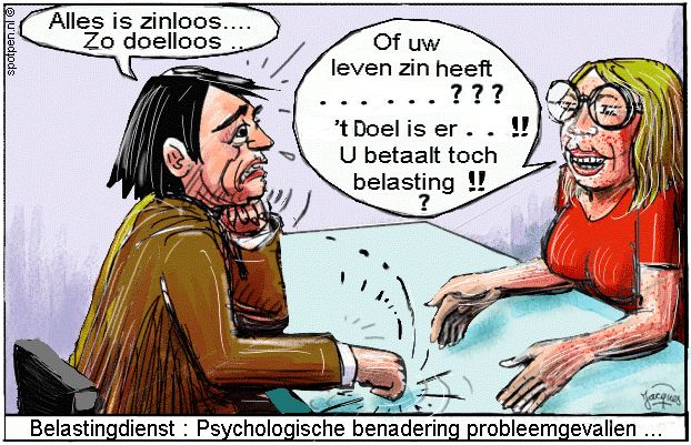 Belastingdienst cartoon belastingen