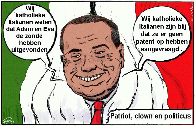 Berlusconi cartoon Silvio Italië