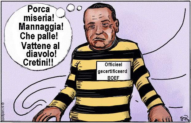 Boef | cartoon | schurk bandiet gangster  Italie