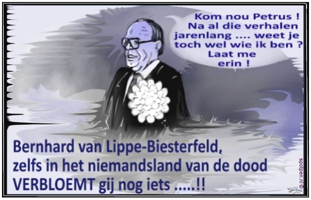 cartoon Prins Bernhard Bernard