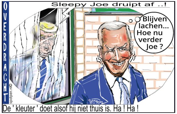 biden versus trump cartoon