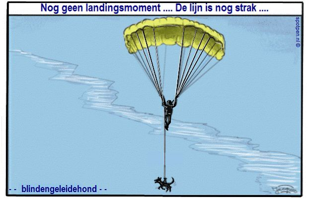 blindengeleidehond cartoon hond