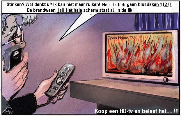 Brand  cartoon tv televisie