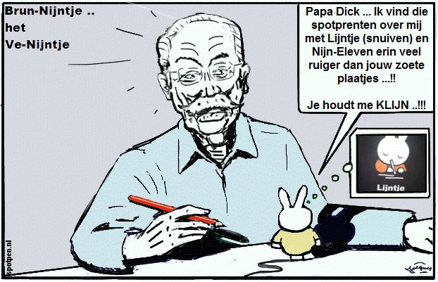 Nijntje cartoon Dick Bruna  copyright