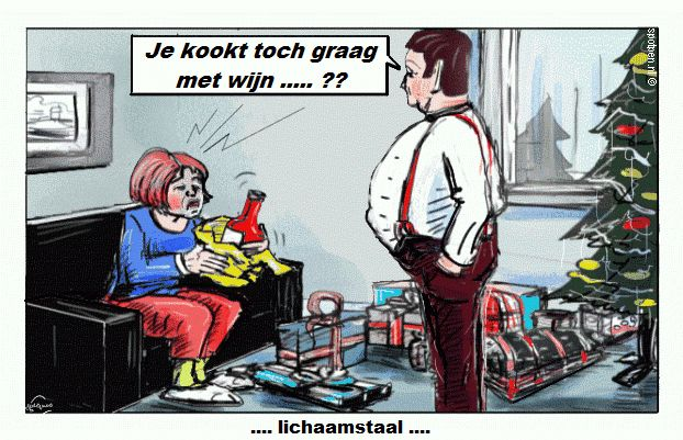 Cartoon mannen cadeaus