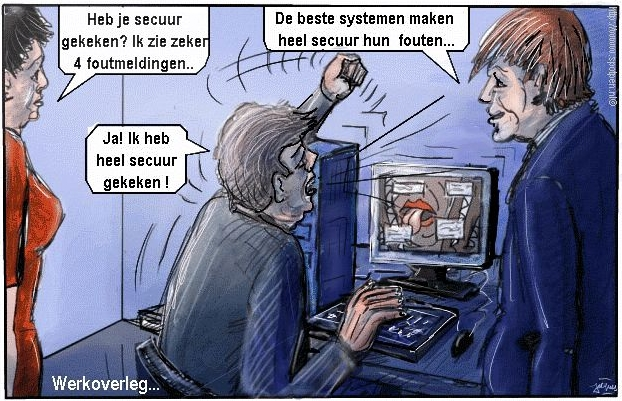 Computer cartoon internet storingen foutmeldingen
