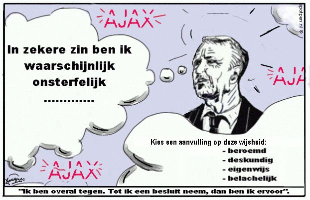 cartoon Cruyff Johan Cruijff  Ajax
