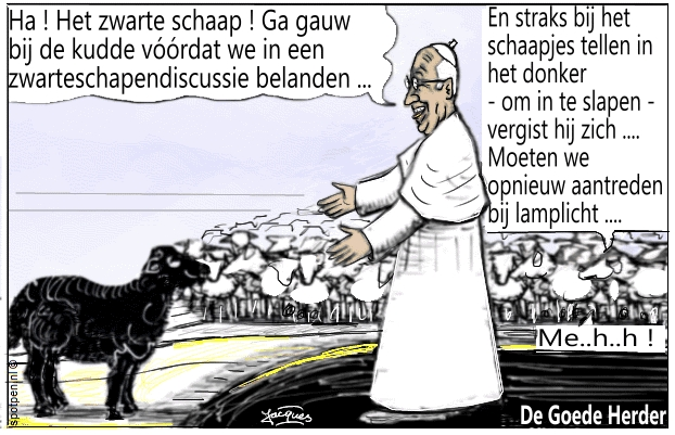De Goede Herder cartoon