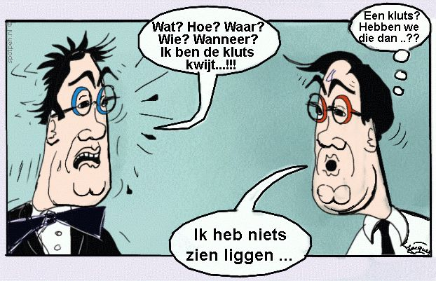 Cartoon  De kluts kwijt