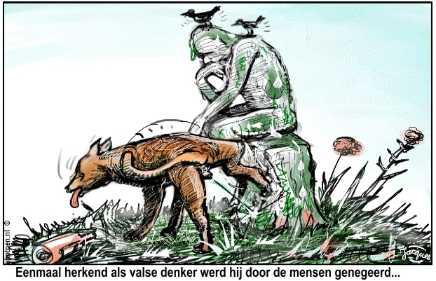 De Denker  Rodin cartoon