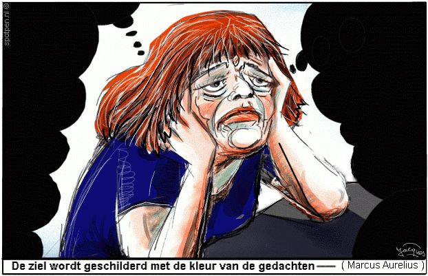 depressief cartoon depressiviteit  depressie