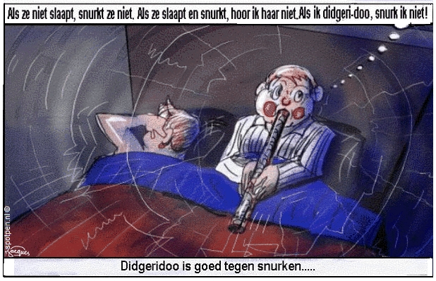 Didgeridoo cartoon  australie aboriginals snurken