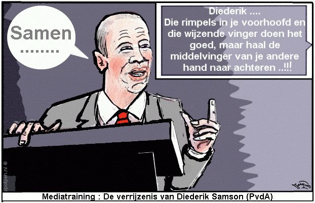 Cartoon mediatrainfing Diederik Samson