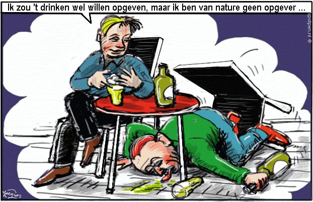 cartoon bier dronken alcohol  dronkaards