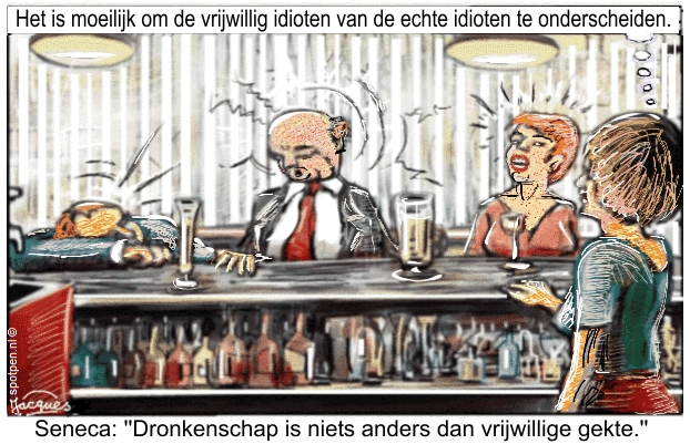 Cartoon dronken alcoholist dronkenschap