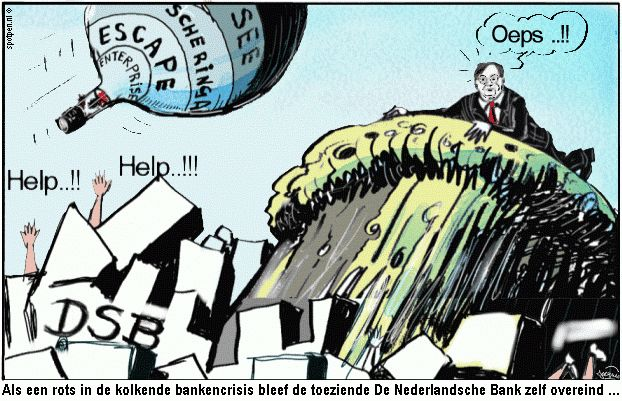 Cartoon banken toezicht