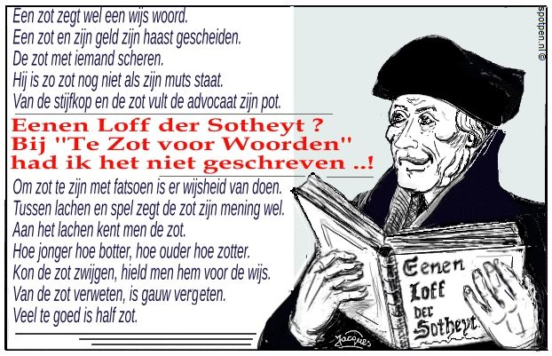 Erasmus cartoon   Lof der Zotheid