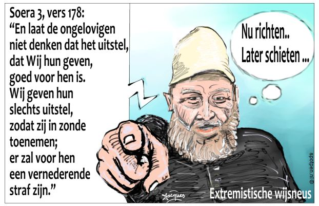 Extremistische imam cartoon
