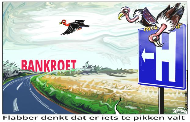 bankroet failliet cartoon
