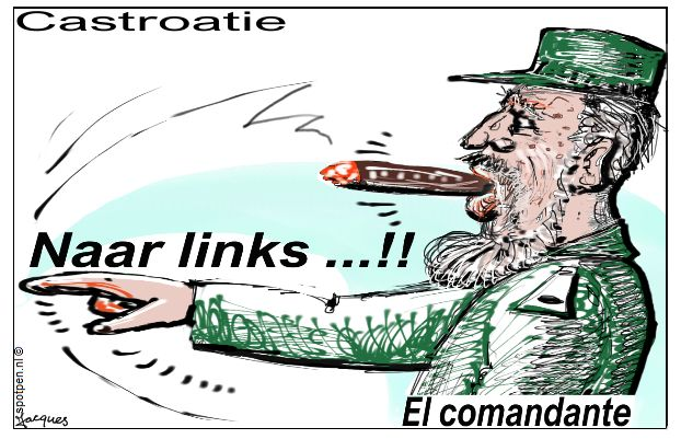 Fidel  Castro  cartoon