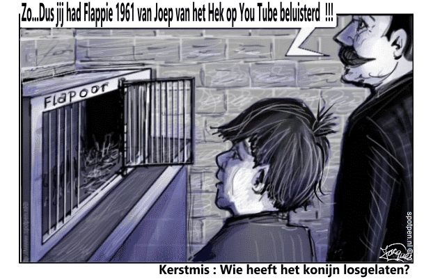 konijn cartoon Flappie kerstmis kerstdiner