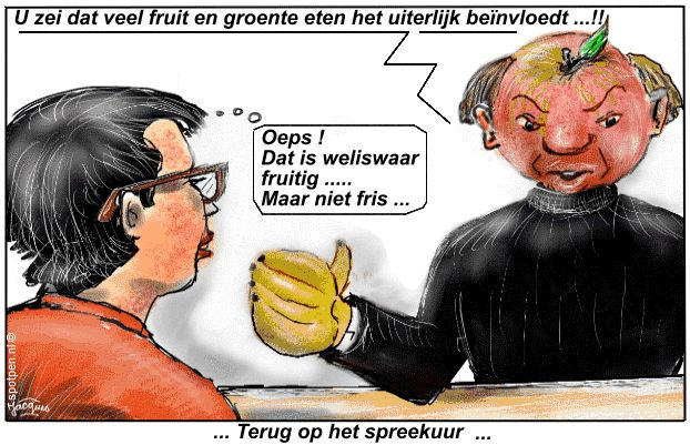 Fris en fruitig groente fruit cartoon