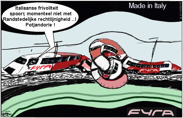 Cartoon trein  Fyra HSL