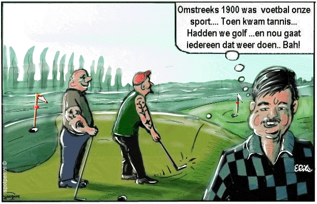 Golfbaan cartoon golf golven