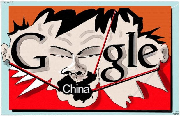 cartoon censuur China zoekmachine  Google