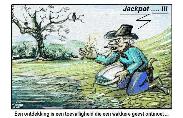 Cartoon goudzoeker