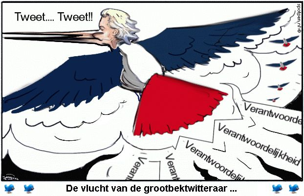 cartoon Wilders twitteraar