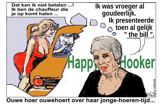 hoer prostituee  cartoon  hooker