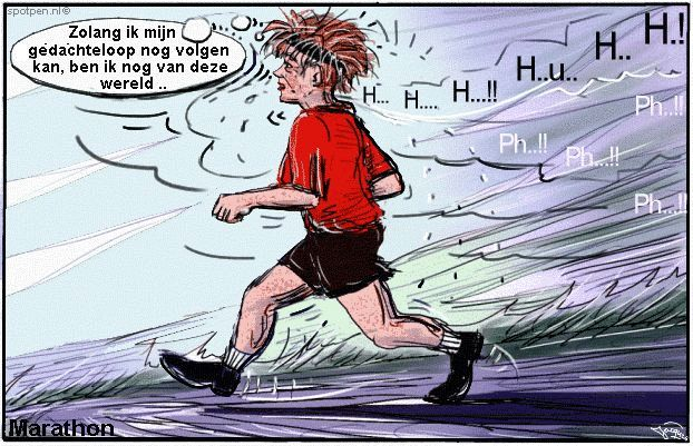 cartoon  hardloper duurloop duursport  marathon